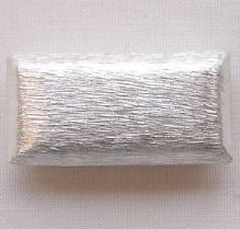 Silver Plated  Beads 24 x 12mm Rectangle - 1